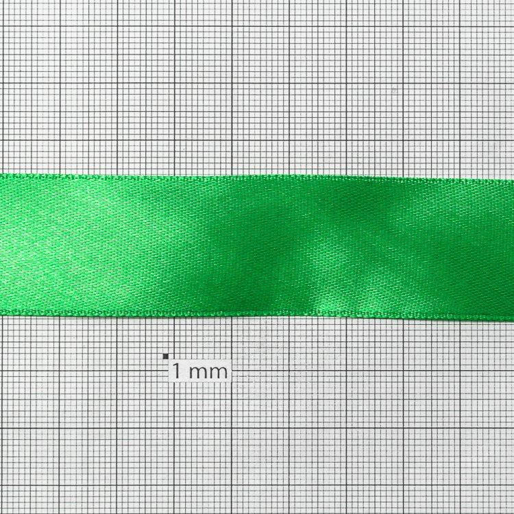 Стрічка атласна 25 мм зелена