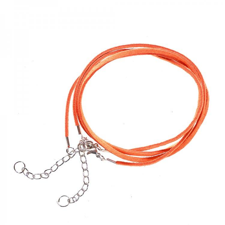 Основа для кулона, замша, помаранчева