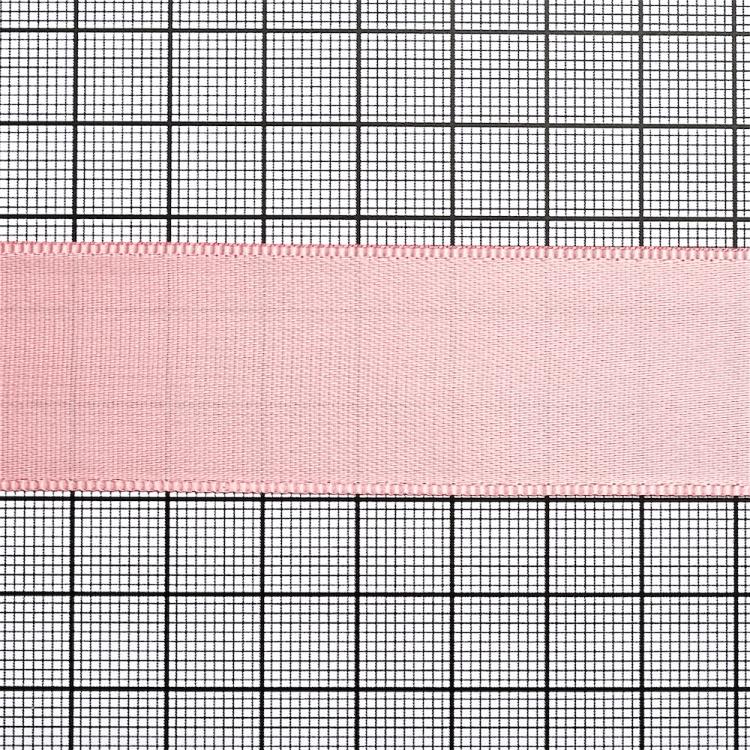 Лента атласная 25 мм розовая