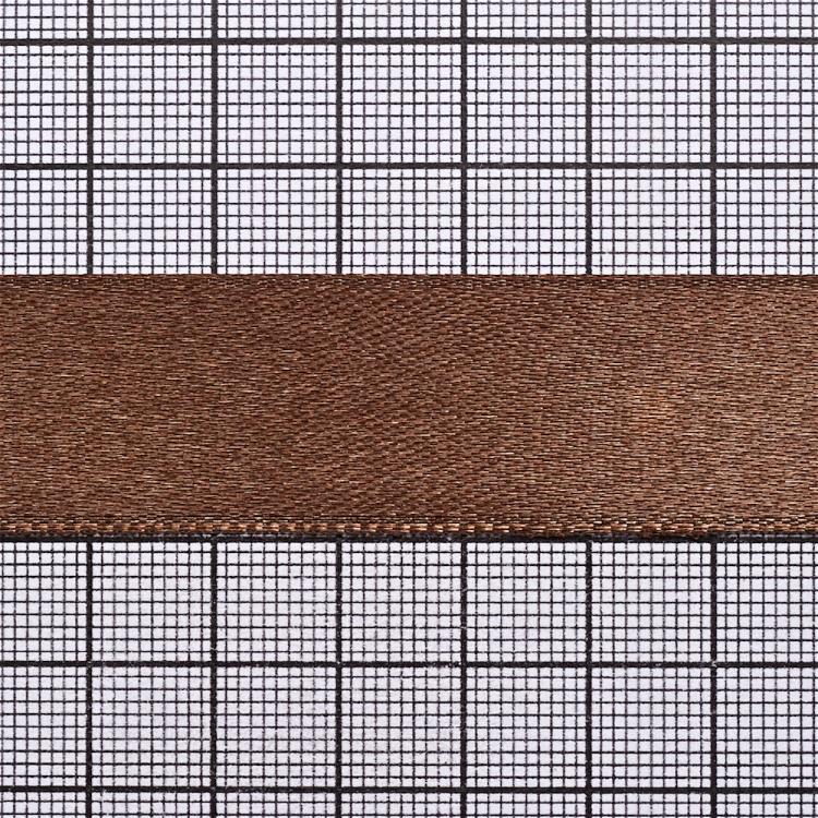 Лента атласная 20 мм коричневая