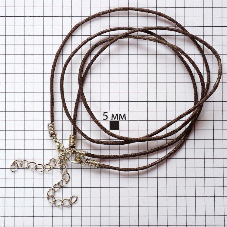Основа для підвісок темно-коричнева бавовна 1,5 мм