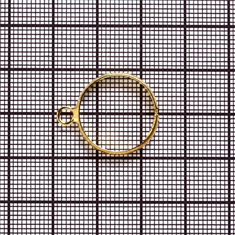 Основи для кілець. Золотий. Діаметр 20 мм.