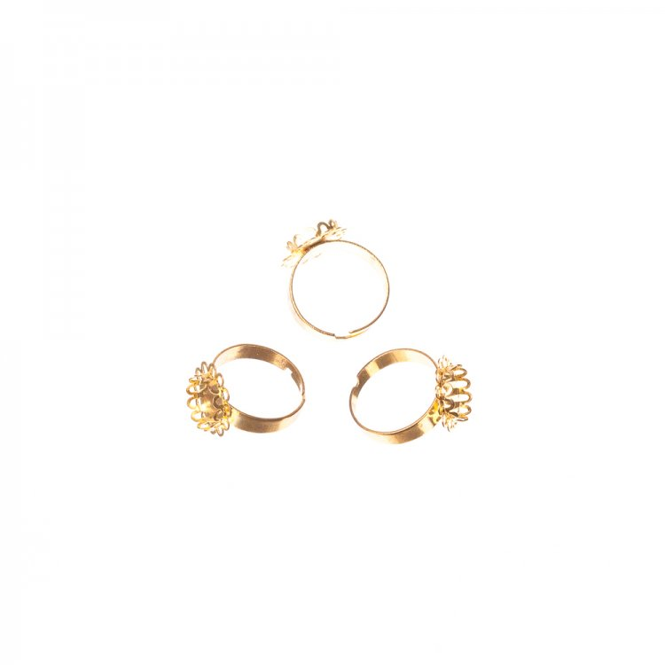 Основа для кольца. Золото. Диаметр 20 мм.