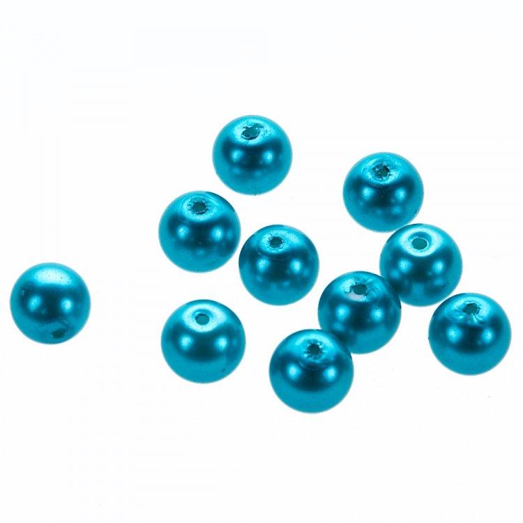 Жемчуг стеклянные гл. тёмно-голубой