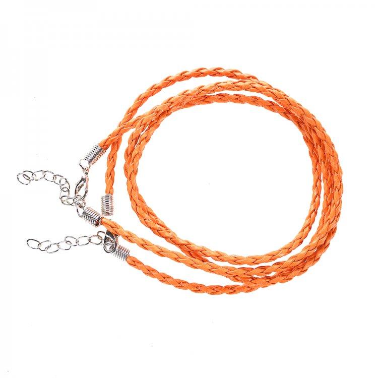 Основа для кулона помаранчевий шкірзам 3 мм