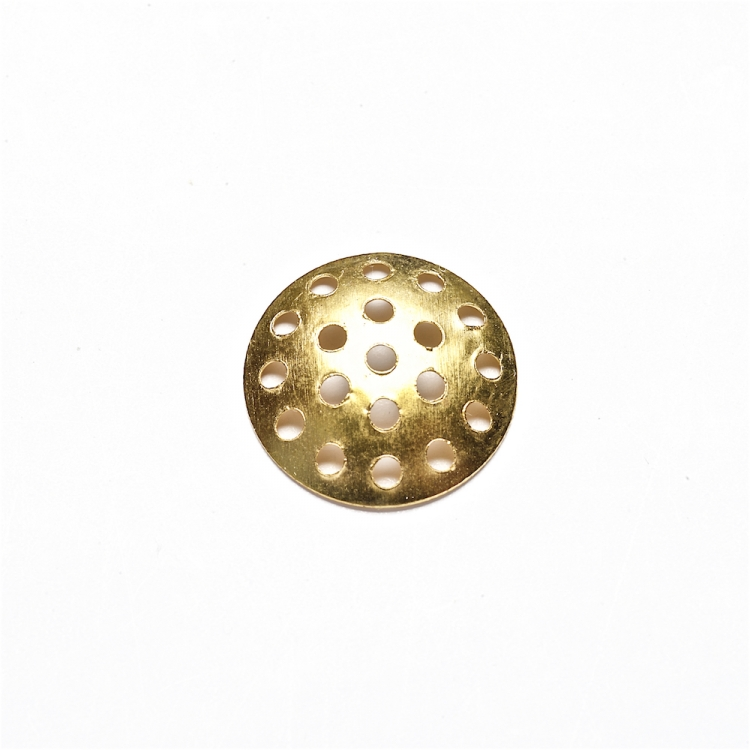 Решетчатая основа для броши, золотая, 14 мм