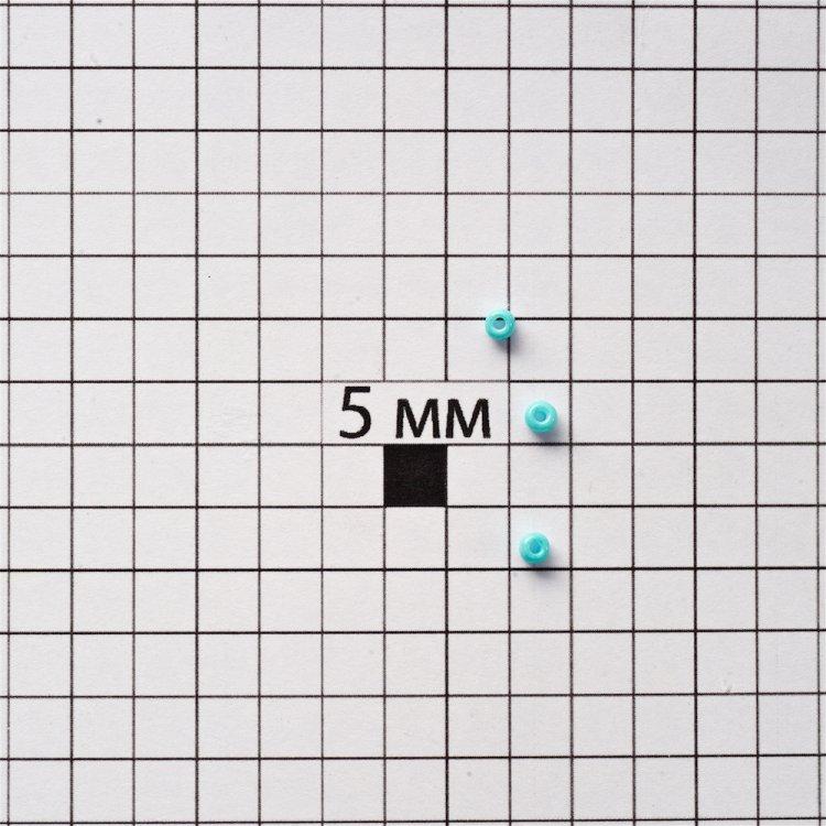 Бисер круглый, мелкий, бирюзовый. Калибр 12 (1,8 мм)