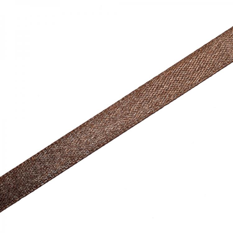 Лента атласная 10 мм коричневая