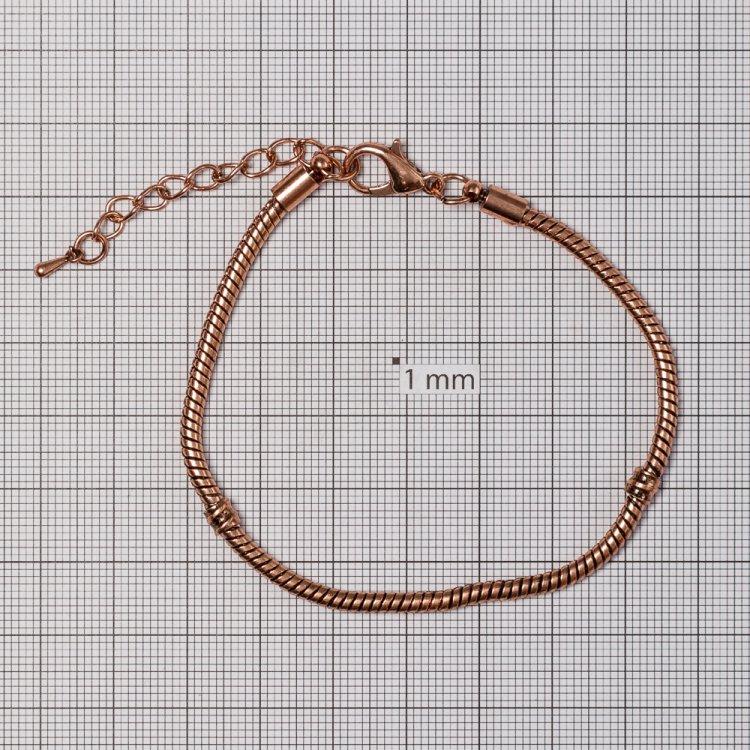 Основа для браслета. Медный. Длина 15 см, диаметр 3 мм.