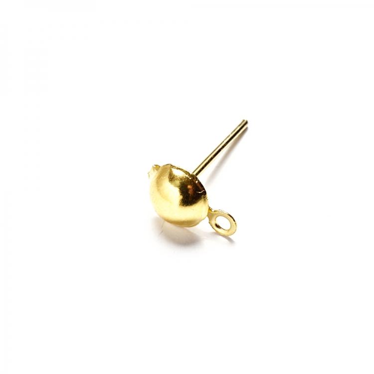 Основа для сережок гвоздик з капелюшком золота