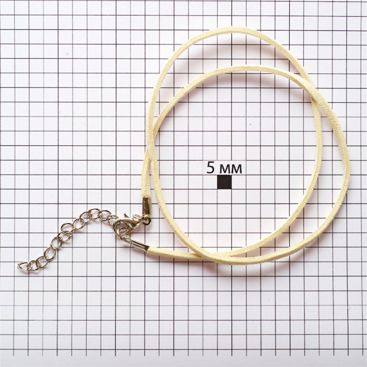 Основа для кулона кремова замша штучна 3 мм
