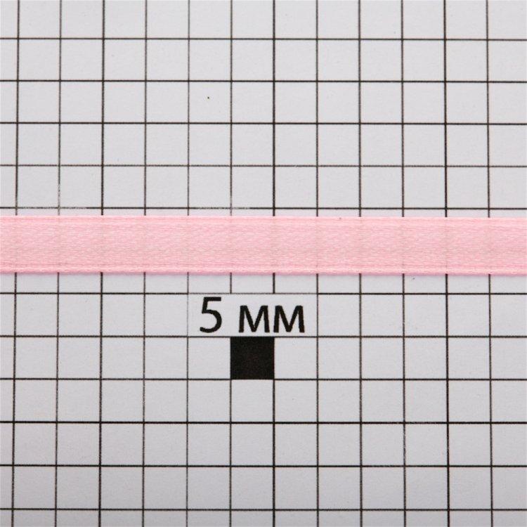 Лента атласная 7 мм розовая
