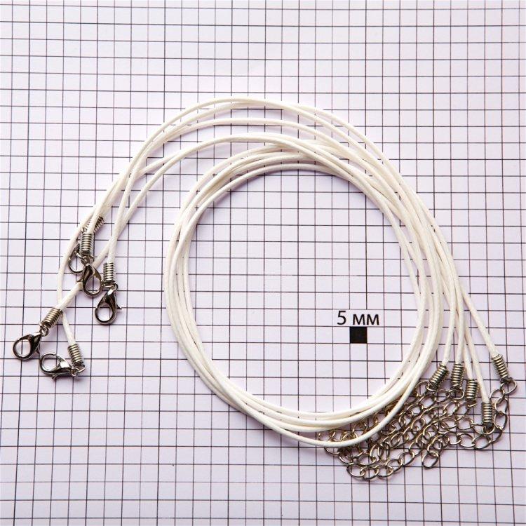 Плетений шнур для кулона біла бавовна 1,5 мм