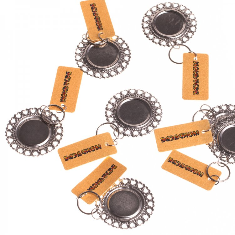 Основа для вклеювання, коло, мельхіор, внутрішній діаметр 18 мм