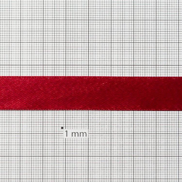 Лента атласная 14 мм бордовая