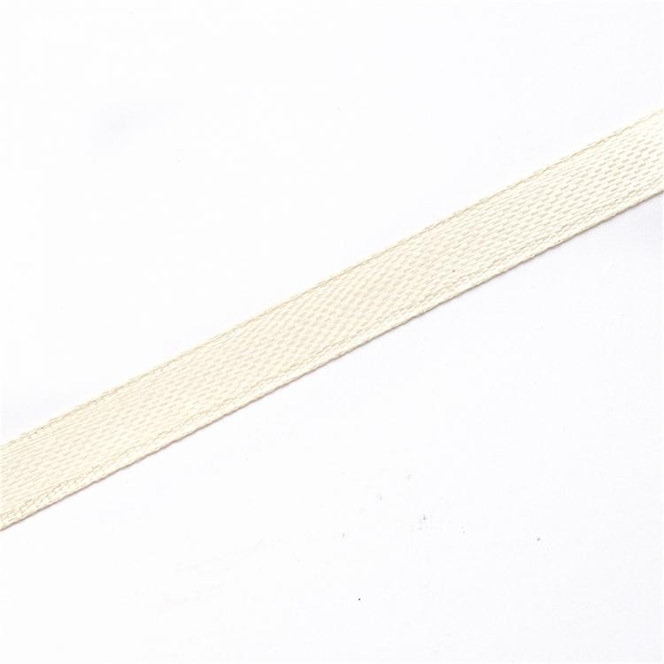Лента атласная 7 мм кремовая