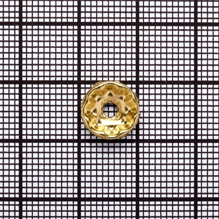 Розділова намистина 10 мм золота з білими стразами