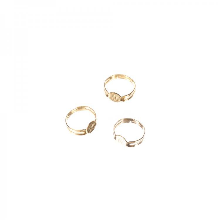 Основи для кілець. Золотий. Діаметр 8 мм.