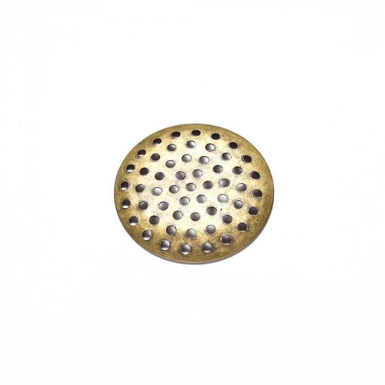 Гратчасті основи для брошок, бронза, 25 мм