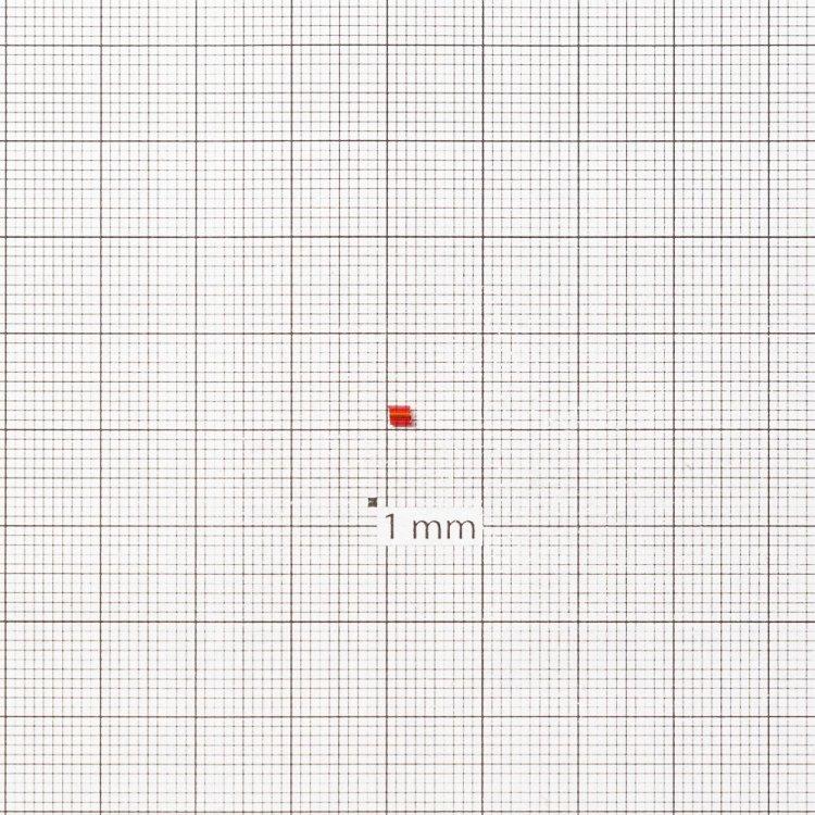 Бисер-рубка тёмно-красный 2.1 мм полупрозрачный стекло