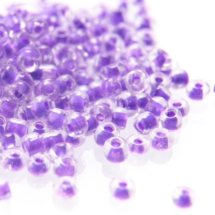 Бисер круглый, мелкий, фиолетовый. Калибр 12 (1,8 мм)