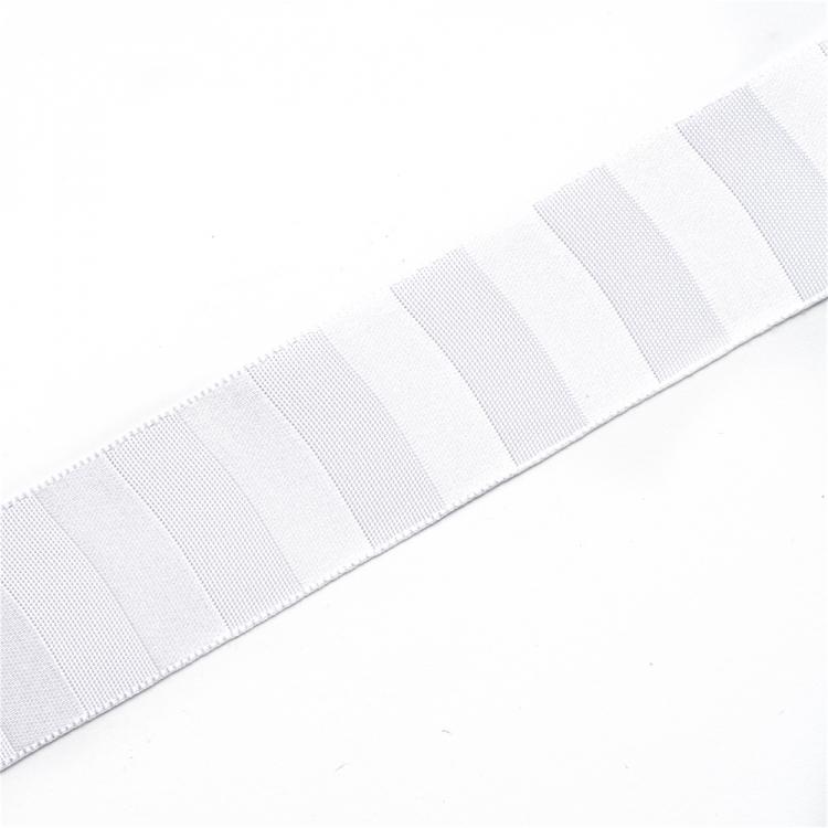 Лента атласная 25 мм полосатая серая