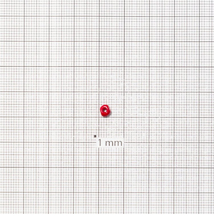 Бисер круглый, крупный, бордовый. Калибр 6 (3,6 мм)