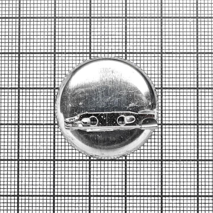Основа для брошки кругла клейова, мельхіор, 30 мм