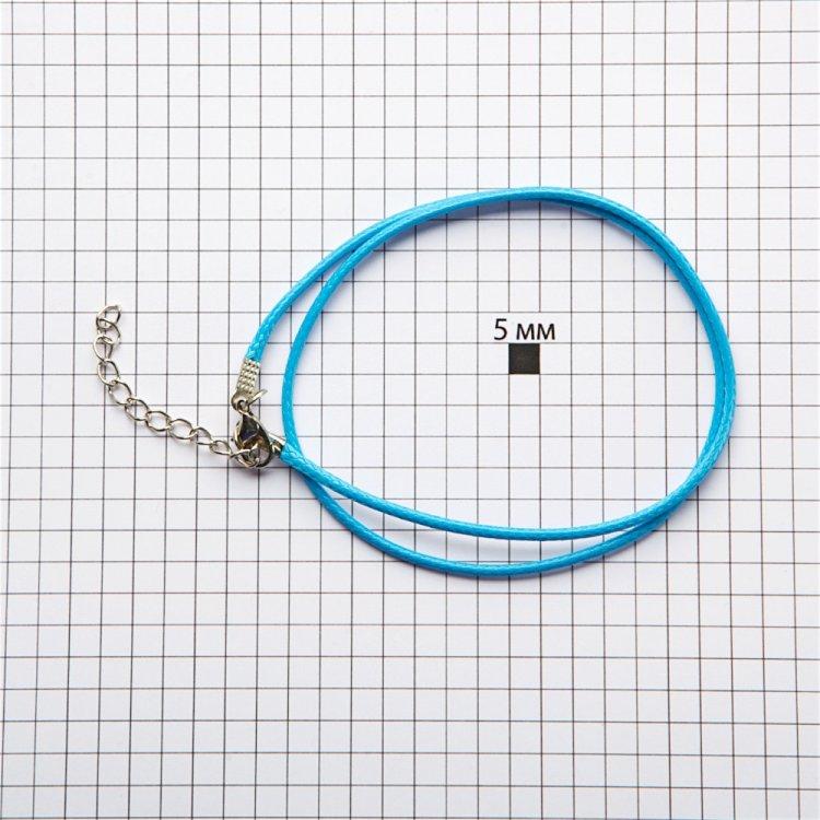 Вощений шнур - готова основа для прикрас синій