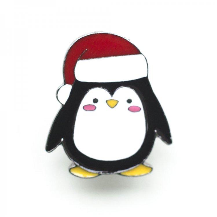 Значок пин Пингвин