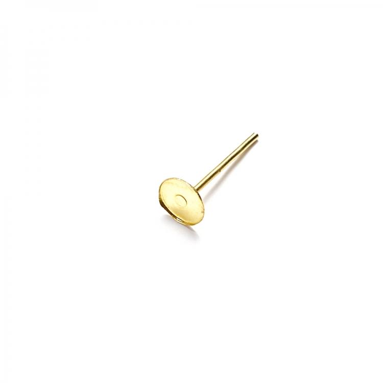 Основа для серег гвоздик 5 мм золотая