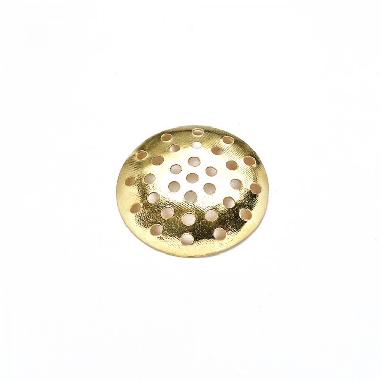 Ґратчасті основи для брошок, золото, 20 мм.