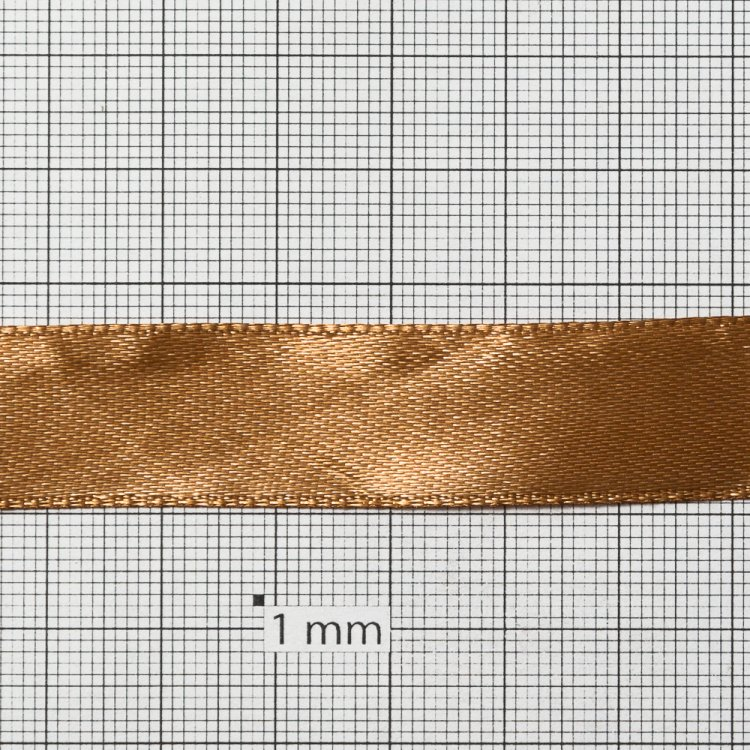 Лента атласная 14 мм бежевая