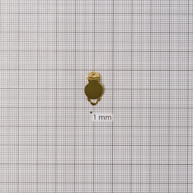 Основи для кліпс. Золотий. Діаметр 10 мм.