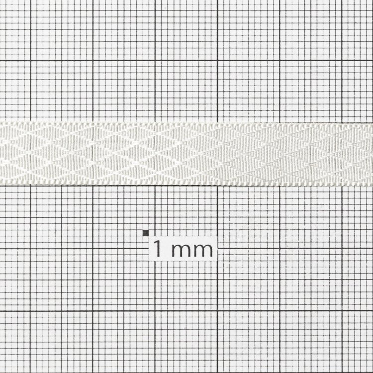 Стрічка атласна 10 мм ромбовидна кремова