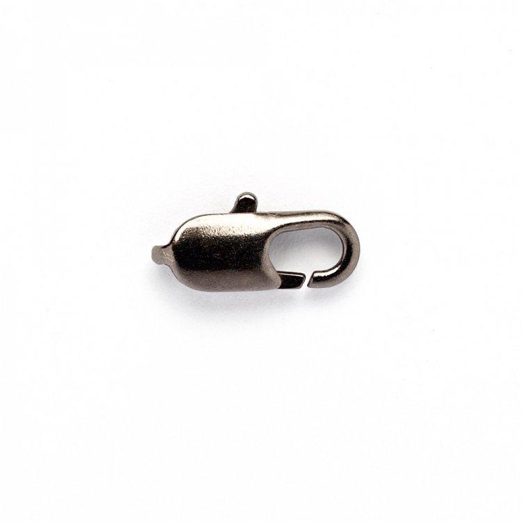 Карабін овальний темна сталь 12 мм