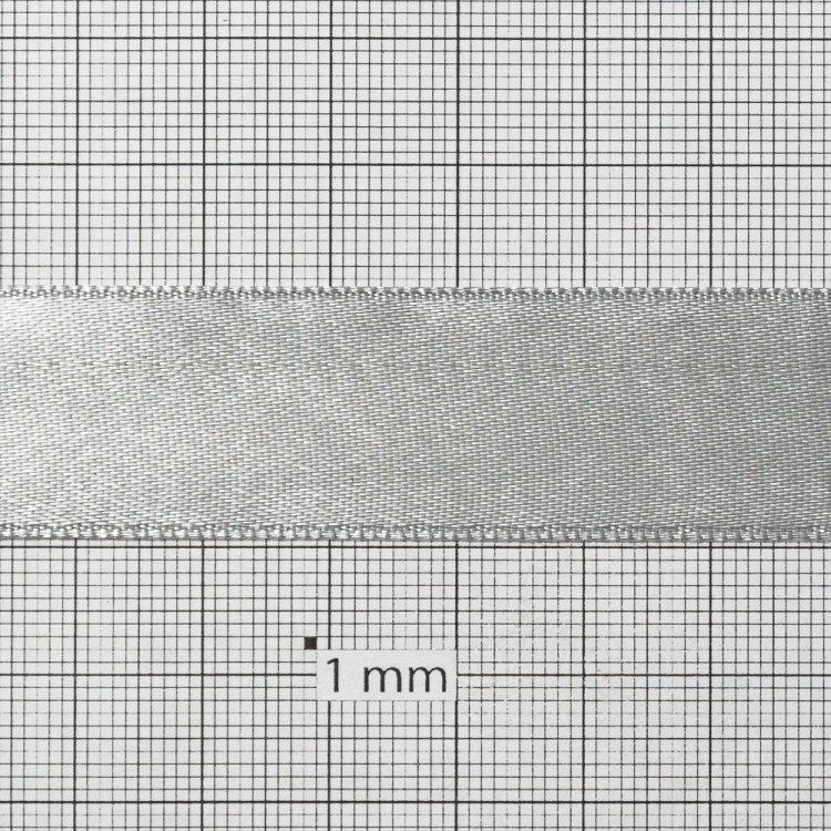 Лента атласная 20 мм серая