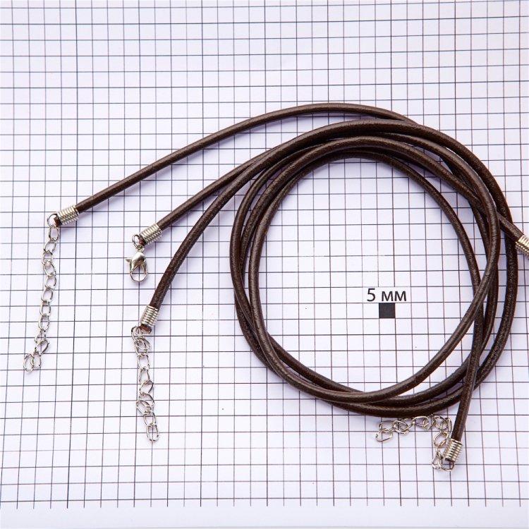 Основа для підвіски коричнева шкірзам 2 мм