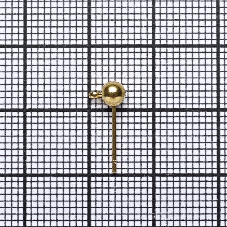 Основа для серег гвоздик золотая