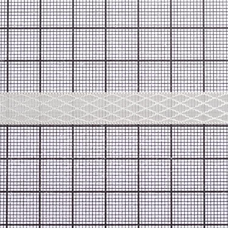 Лента атласная 10 мм ромбовидная серая