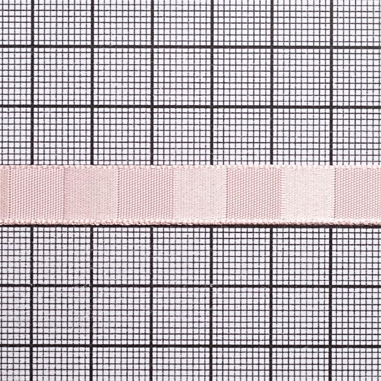 Лента атласная 10 мм полосатая розовая