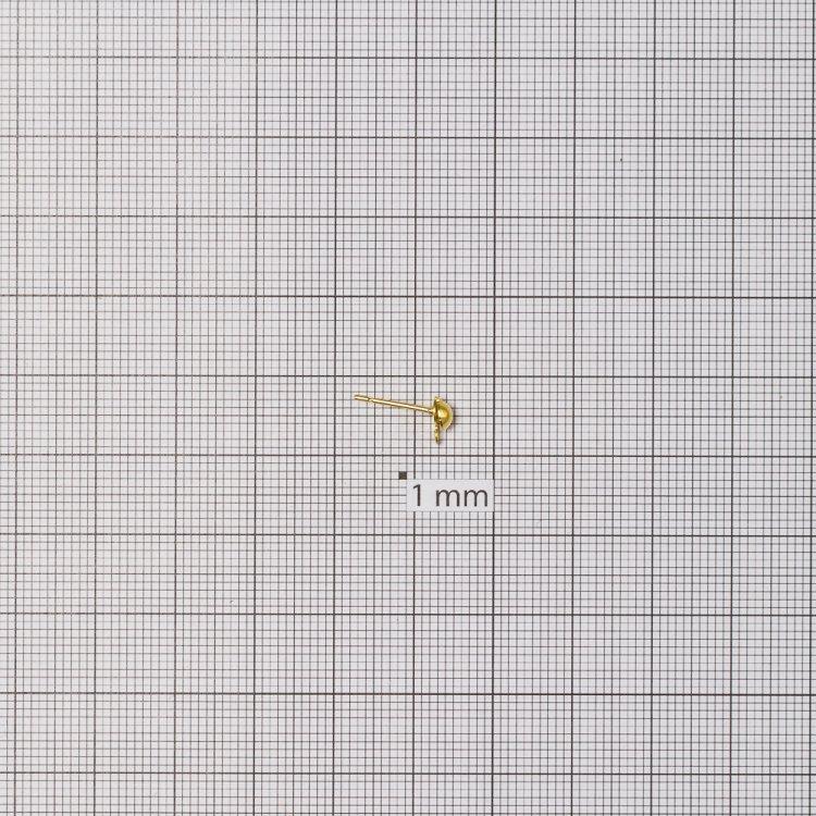 Основи для сережок. Золотий. Діаметр 5 мм.
