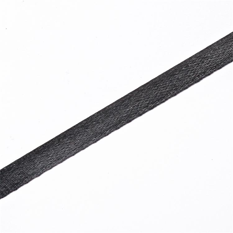 Лента атласная 7 мм черная