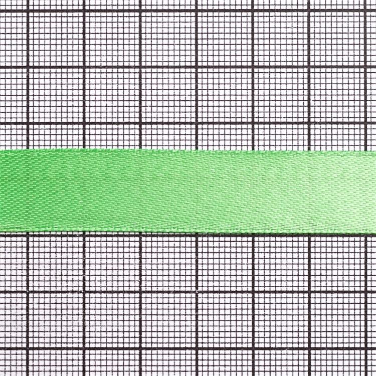 Лента атласная 14 мм салатовая
