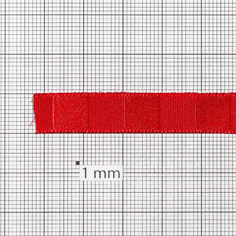 Лента атласная 10 мм полосатая красная