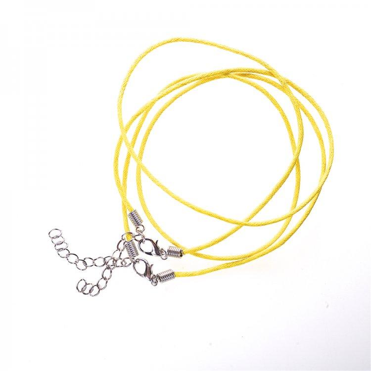 Плетений шнур для кулона, бавовна, жовта