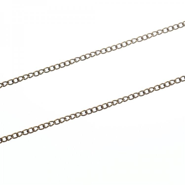 Цепь бронзовая панцирная. Бронза. Длина 100 см, калибр 0,6 мм