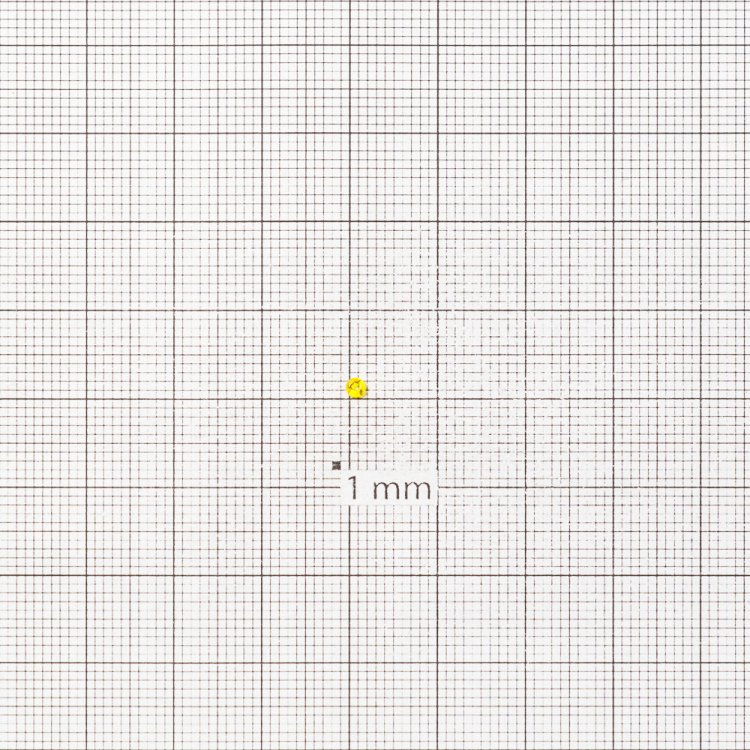 Бисер круглый, мелкий, желтый прозрачный. Калибр 12 (1,8 мм)