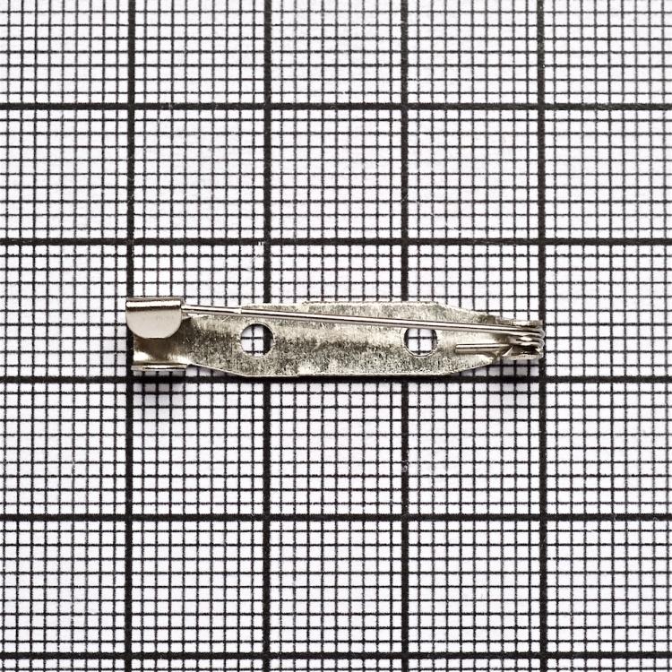 Основа для броши. Мельхиор. 30 мм