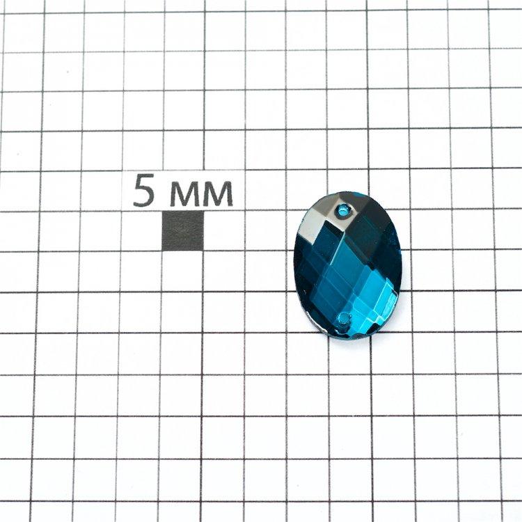 Стразы стеклянные пришивные. Изумрудный. Длина 18 мм, ширина 13 мм.